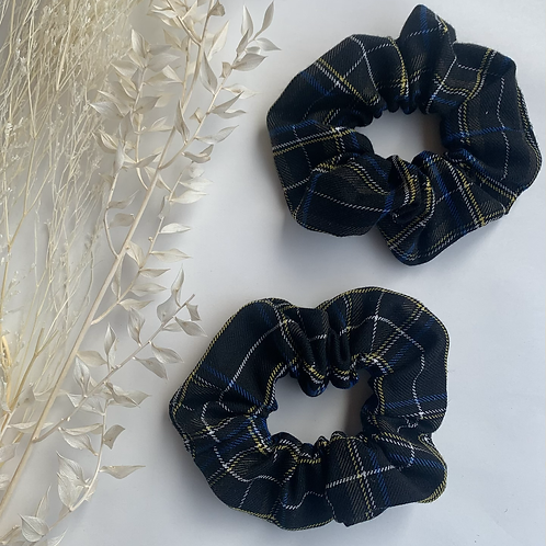 Black with Yellow and Blue Tartan