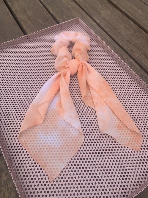 Orange Tye Dye Scarf Scrunchies