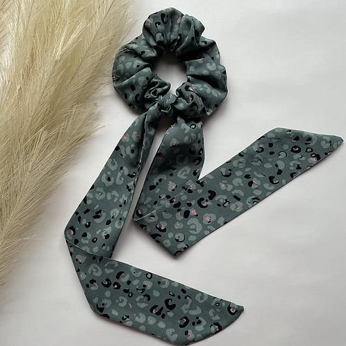 Green Leopard Long Tie