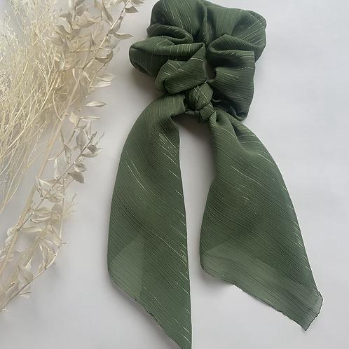Shimmer Green Scarf Scrunchie