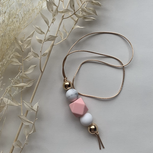 Pink Gold Hanging Keychain