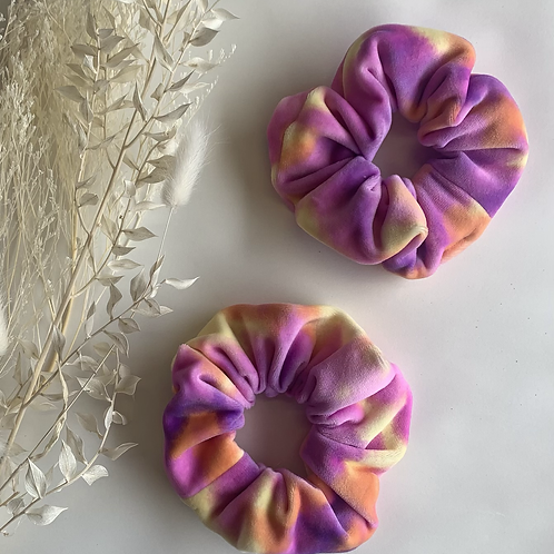 Purple and Orange Fluffy Tye Dye