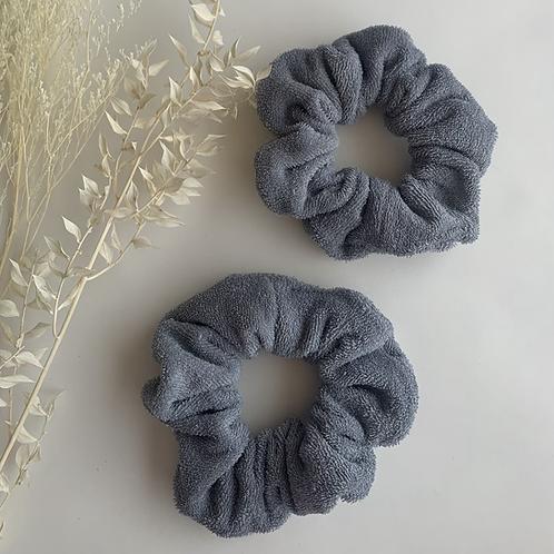 Grey Towel Scrunchie