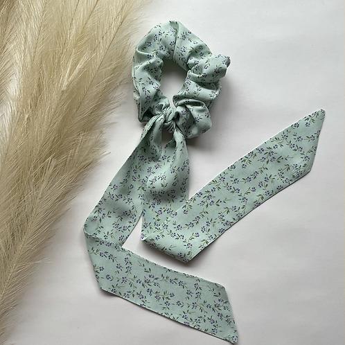 Mint Lavender Floral Long Tie