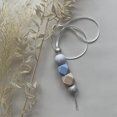 Pastel Blue Hanging Keychain