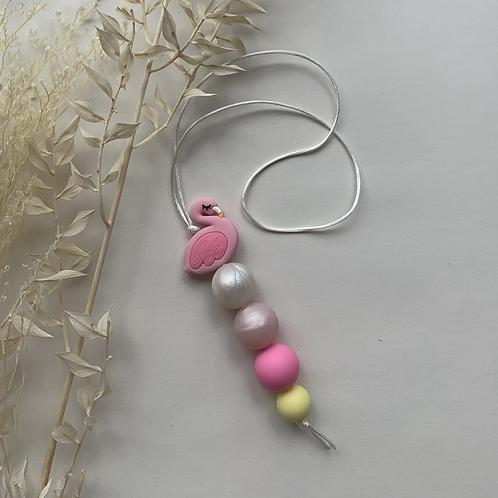 Pink Flamingo Hanging Keychain