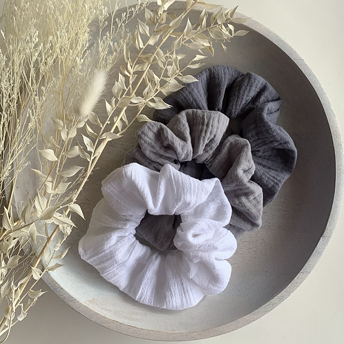 Greys and White Cheesecloth 3 Pack