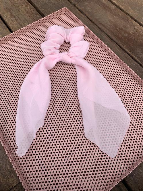 Light Pink Scarf Scrunchie