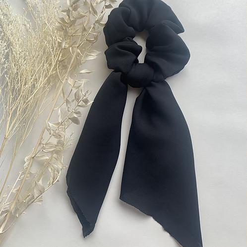 Plain Black Scarf Scrunchie