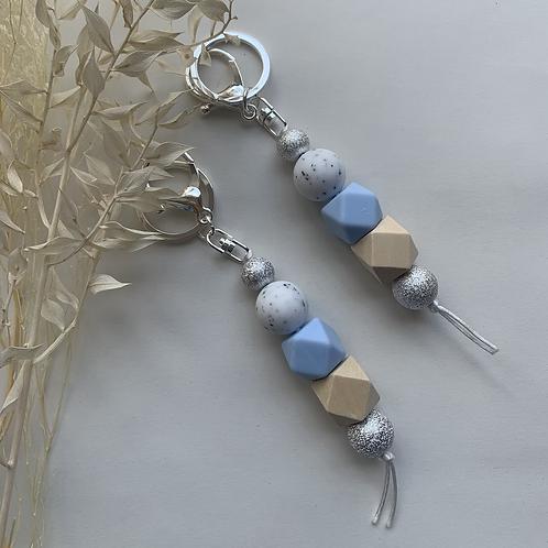 Pastel Blue Silicon Keychain
