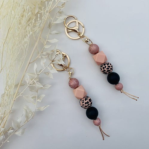 Rose Gold Silicon Keychain