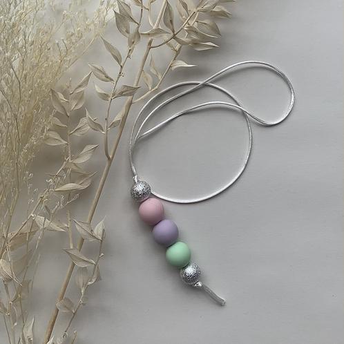 Silver Pastel Hanging Keychain