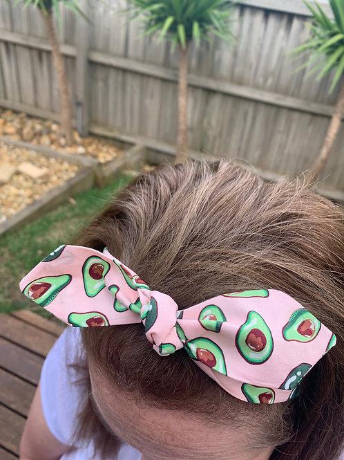 Pink Avocado Adjustable Headband