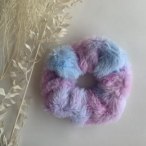 Jumbo Fluffy Blue/Purple Tye Dye