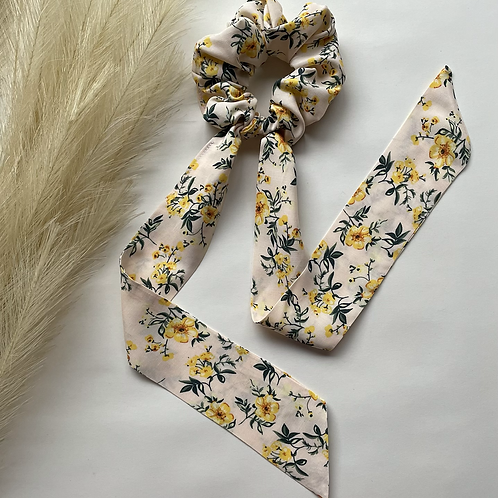 Yellow Floral Long Tie