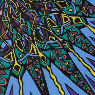 Posca inks and acrylic on canvas.