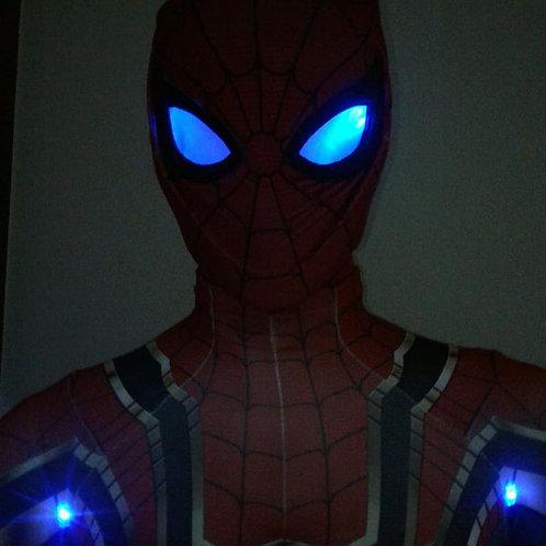 Fantasia Iron Spider Man - Vingadores 3 - Com Leds