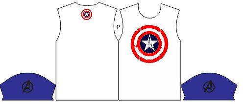 Camisa de Compressão Estampa Escudo Capitão América