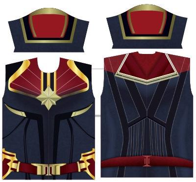 Camisa de Compressão Capitã Marvel - Modelos