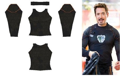 Camisa Tony Stark - Guerra Infinita com reator em impressão 3D