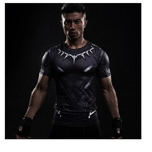 Camisa de Compressão Pantera Negra