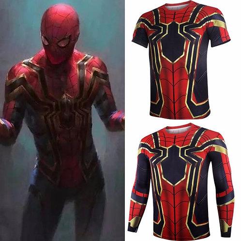 Camisa Compressão Iron Spider Man - Guerra Infinita