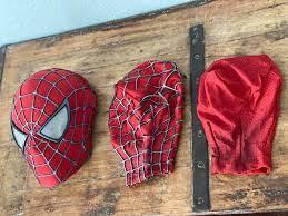 Máscara Spiderman - Trilogia Tobey Maguire com teias emborrachadas