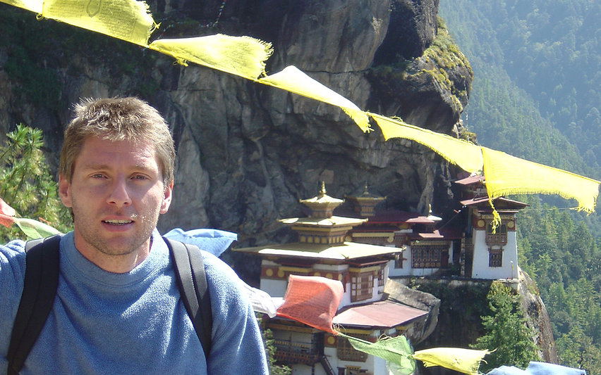 Stephen Shaw at Tiger'sNest Monastery, Bhutan