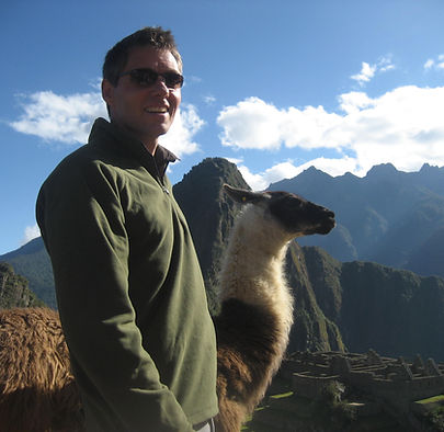 Stephen Shaw at Machu Picchu, Peru