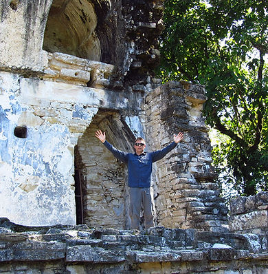 Stephen Shaw at Palenque, Mexico