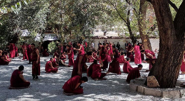 Stephen Shaw at Sera Monastery, Tibet