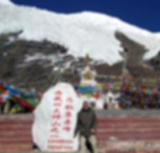 Stephen Shaw at Karola Glacier, Tibet