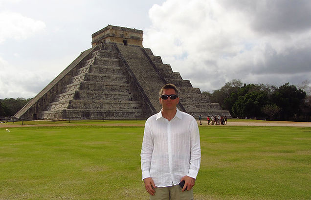 Stephen Shaw at Chichen Itza, Mexico