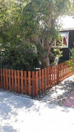 Jarrah picket fence