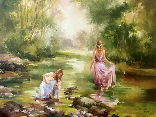 "Simone Campos ""Mulheres no lago - Women at the Lake"""