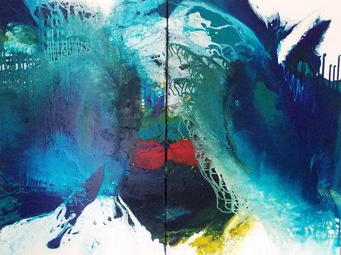 """Christa Haack """"Blaue Entdeckung 1 & 2"""""""