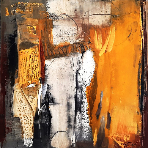 "Eva Recordon ""Composition Jaune 361"""