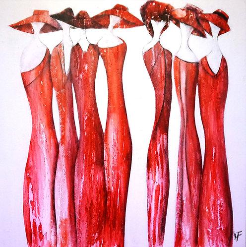 """Friedrich Wurm """"Red Ladies"""""""