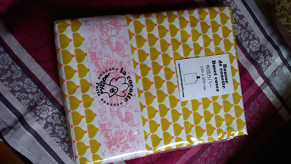 La Cocotte Paris Bed sheet (Yellow cupcake)