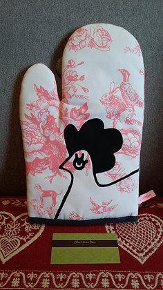 La Cocotte Paris Oven Glove (Pink Rose)