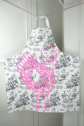 La Cocotte Grey Rose Adult apron