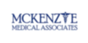 Mckenzie-medical-logo-blue lette, blue frame
