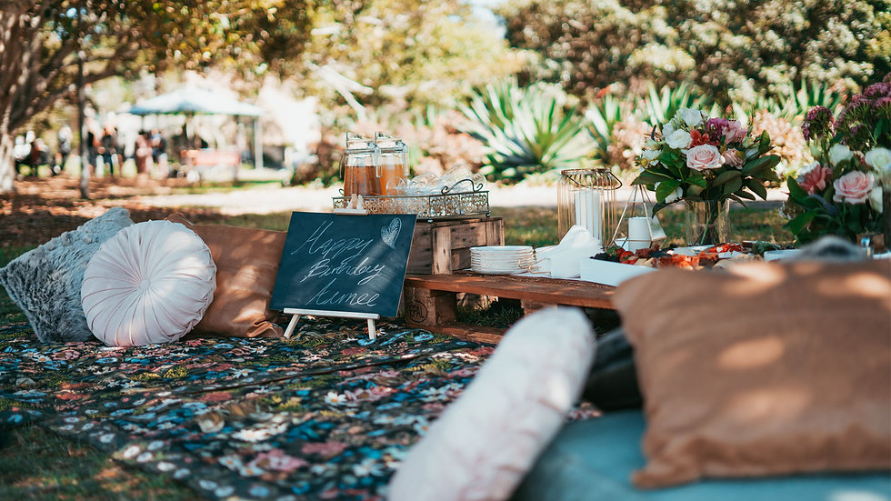 Outdoor rustic party planner with The Hullabaloo Collective