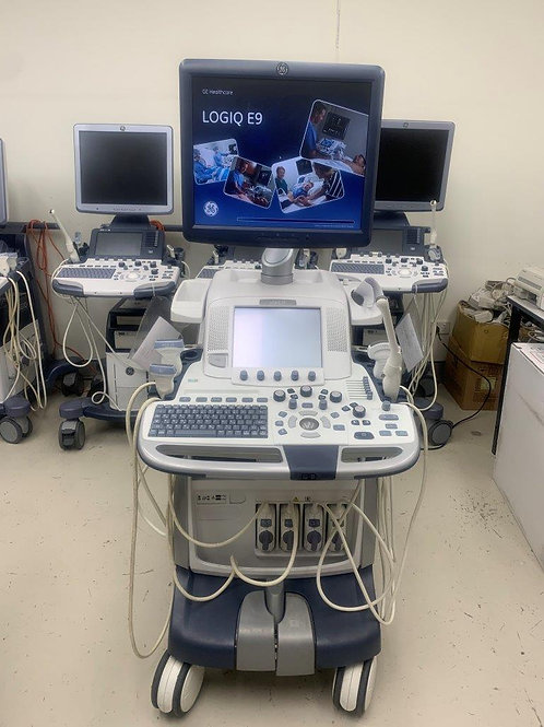Used GE Logiq E9 ultrasound machine EX2149