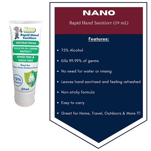 Nano Rapid Hand Sanitizer 59mL