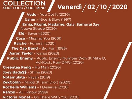 Playlist del 2 ottobre 2020