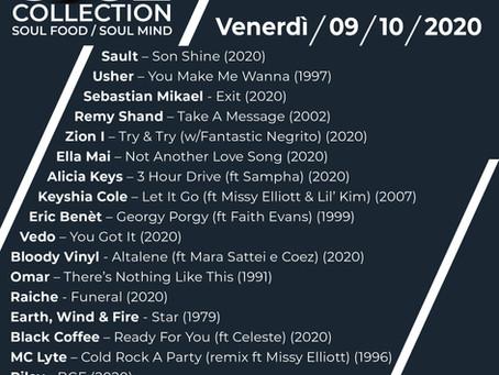 Playlist del 9 ottobre 2020