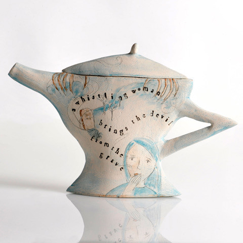 Whistling Woman Tea Pot