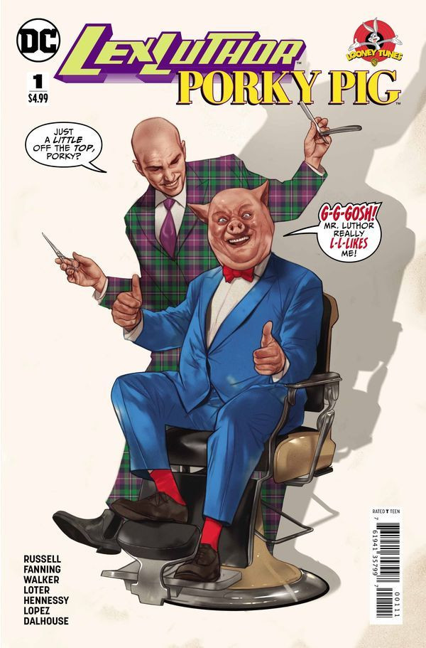 Lex Luthor Porky Pig Special #1 Cover by Ben Oliver