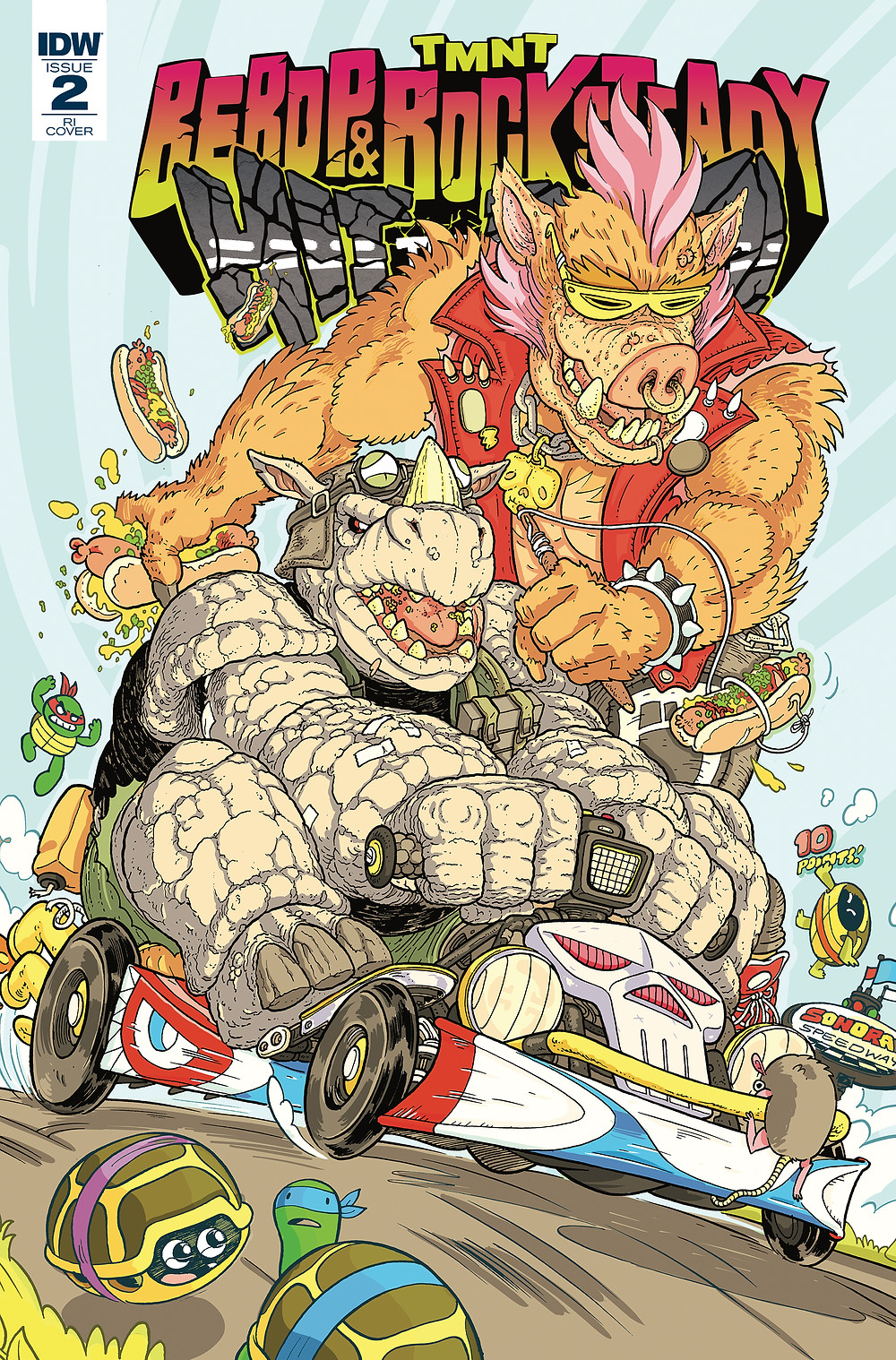 Bebop & Rocksteady: Hit the Road 2 RI Cover by Ulises Farinas